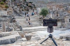 Ancient ruins at Ephesus historical ancient city stock photo