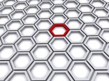 Cell-modell bakgrund Royaltyfri Bild