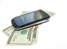 Cell money on white Stock Image