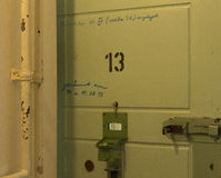 Cell Number Thirteen Inside Prison Stock Photos