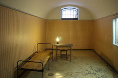 Cell in Peter and Paul Fortress  in Saint Petersburg Stock Photography