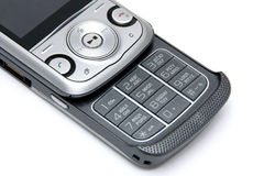 Cell phone. On a white background Stock Photography