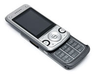 Cell phone. On a white background Stock Images