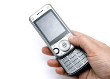 Cell phone. On a white background Royalty Free Stock Photo
