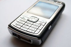 Cell phone. Black - silver color Cellular phone Royalty Free Stock Photo