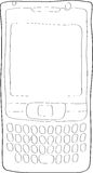 Cell phone. Outlined illustration of a cell phone Stock Images