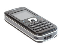 Cell phone. A black mobile phone (isolated stock images