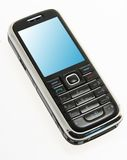 Cell phone. Perfectly isolated mobile phone on white background. This high resolution image was taken by 10 mp Canon camera with professional lens Stock Photos