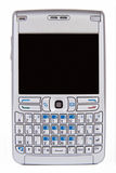 Cell Phone. Modern Cell Phone with cool keyboard, isolated on white Stock Photos