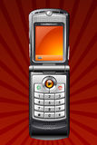 Cell phone. An orange vector cell phone Royalty Free Stock Photography