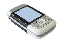 Cell Phone On. MP3 Cell Phone turned on Royalty Free Stock Photo