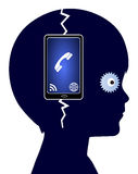 Cell Phone Addiction Royalty Free Stock Images