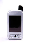 Cell Phone. A cell phone against a white background Royalty Free Stock Photo