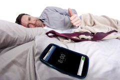 Cell Phone Alarm Clock Royalty Free Stock Images