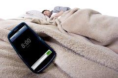 Cell Phone Alarm Clock Stock Photography