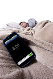 Cell Phone Alarm Clock Royalty Free Stock Photography