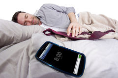 Cell Phone Alarm Clock Stock Image