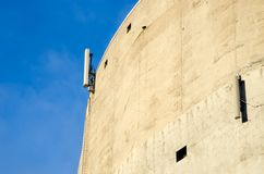 Cell phone antenna on building Royalty Free Stock Photography