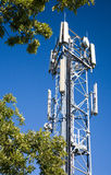 Cell phone antenna tower. A cell phone antenna tower in the UK used for GSM and 3G royalty free stock photo
