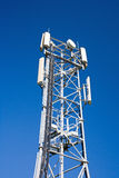Cell Phone Antenna Tower. A cell phone antenna tower used for GSM, GPRS and 3G (UMTS royalty free stock image