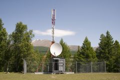 Cell phone antenna tower Stock Photography