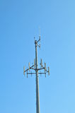 Cell phone antenna tower. Image of a cell phone antenna tower Stock Images