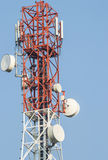 Cell phone antenna tower. In Thailand Stock Photo