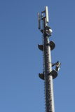 Cell Phone antenna tower. Telecommunication microwave Royalty Free Stock Photography