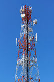 Cell Phone Antenna Tower. A communications tower for mobile phone signals Stock Photography
