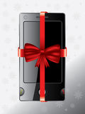 Cell phone as christmas gift Royalty Free Stock Photo
