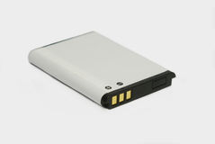 Cell phone battery. Lithium-ion cell phone battery isolated on white background Stock Image