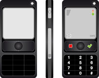 Cell phone black Royalty Free Stock Photography