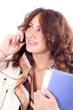 Cell Phone business Woman Stock Photo
