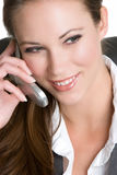 Cell Phone Businesswoman Stock Image