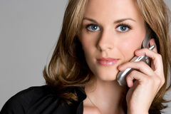 Cell Phone Businesswoman Royalty Free Stock Photography