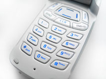Cell Phone Buttons. Close up on blue lit cell phone buttons royalty free stock photo