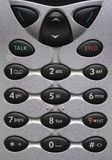 Cell Phone Buttons. A cell phone keypad stock photography