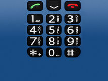 Cell phone buttons Stock Image