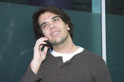 Cell phone call stock photo