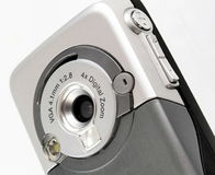 Cell phone camera. Phone mobile and camera isolated royalty free stock images
