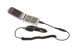 Cell phone with car charger Stock Image