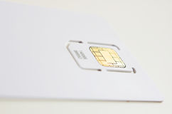 Cell phone card. New cell phone sim card in blank white 'credit card' ready for branding Stock Photography