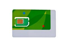 Cell phone card Royalty Free Stock Image
