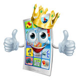 Cell phone cartoon king Royalty Free Stock Images