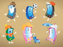 Cell Phone Characters Stock Images