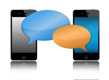 Cell phone communication illustration Stock Image