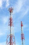 Cell phone and communication towers Royalty Free Stock Photography