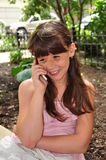 Cell Phone Conversation Royalty Free Stock Image