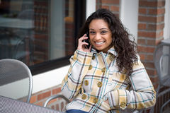 Cell Phone Conversation Stock Image