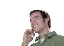 Cell Phone Conversation Royalty Free Stock Photo